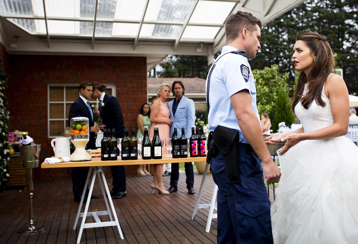 Paige is arrested by Mark at their wedding